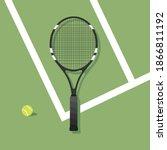 tennis racket icon  tennis...   Shutterstock .eps vector #1866811192