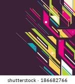 bright futuristic background | Shutterstock . vector #186682766