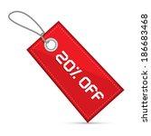 twenty percent off red discount ...   Shutterstock .eps vector #186683468