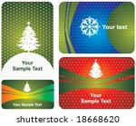 christmas cards | Shutterstock .eps vector #18668620