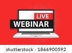 free webinar play online button ...   Shutterstock .eps vector #1866900592