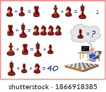 mathematical logic puzzle game... | Shutterstock .eps vector #1866918385