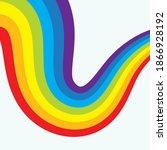 rainbow liquid  background... | Shutterstock .eps vector #1866928192