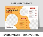 food menu template for mexican... | Shutterstock .eps vector #1866928282
