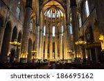 barcelona august 13  interior... | Shutterstock . vector #186695162