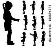 Vector Silhouette Of A Little...