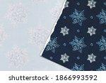 Blue Christmas Snowflake Torn...