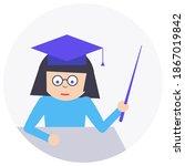 teacher icon. vector teacher...   Shutterstock .eps vector #1867019842