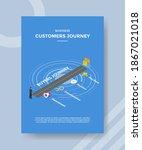 business customer journey men...   Shutterstock .eps vector #1867021018