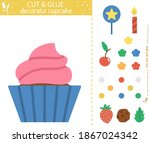 vector birthday party cut and... | Shutterstock .eps vector #1867024342