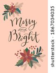 merry and bright. merry... | Shutterstock .eps vector #1867034035