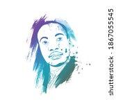illustration of mlk day poster... | Shutterstock .eps vector #1867055545