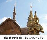 Golden Buddhist Statue At Wat...