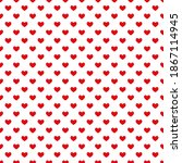 seamless pattern of red hearts. ...   Shutterstock .eps vector #1867114945