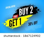 special offer buy 2  free get 1 ... | Shutterstock .eps vector #1867124902