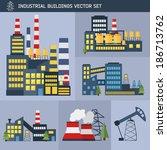 modern industrial flat... | Shutterstock .eps vector #186713762