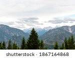 pine forest and mountain... | Shutterstock . vector #1867164868