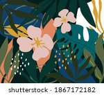 artistic seamless pattern with...   Shutterstock .eps vector #1867172182