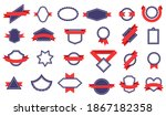 badges with ribbons. different...   Shutterstock . vector #1867182358