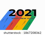 happy new year 2021 cover with...   Shutterstock .eps vector #1867208362