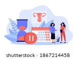 woman consulting female doctor... | Shutterstock .eps vector #1867214458