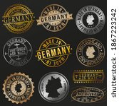 quality germany metal stamps....   Shutterstock .eps vector #1867223242