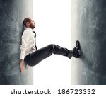 concept of a stressed... | Shutterstock . vector #186723332