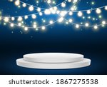 podium . stage for awards... | Shutterstock .eps vector #1867275538