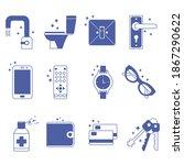 disinfection of premises... | Shutterstock .eps vector #1867290622