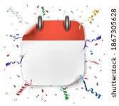 blank realistic calendar icon... | Shutterstock . vector #1867305628