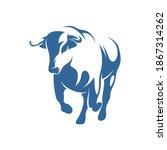 bull logo vector template ... | Shutterstock .eps vector #1867314262