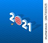 new year goals 2021. vector... | Shutterstock .eps vector #1867333525