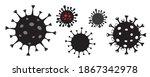 coronovirus icons set. covid 19.... | Shutterstock .eps vector #1867342978