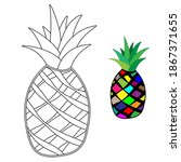 Pineapple For Coloring  Fruit...