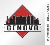 genoa  metropolitan city of... | Shutterstock .eps vector #1867373368