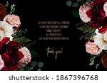 elegant dark frame  arranged... | Shutterstock .eps vector #1867396768