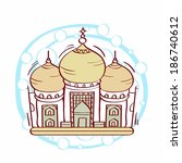 illustration of taj mahal | Shutterstock . vector #186740612