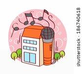 illustration of musical notes... | Shutterstock . vector #186740618