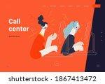 business topics  call center ...   Shutterstock .eps vector #1867413472