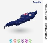anguilla 3d flag map and vector ... | Shutterstock .eps vector #1867424902