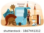 abstract concept of history...   Shutterstock .eps vector #1867441312