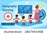 geography concept. global... | Shutterstock .eps vector #1867441408