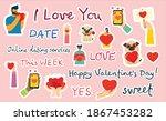 vector valentine illustration... | Shutterstock .eps vector #1867453282