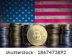 Bitcoin Token Infront Of...