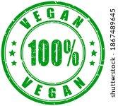 vegan formula rubber stamp... | Shutterstock .eps vector #1867489645