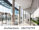 empty hall in the modern office ... | Shutterstock . vector #186752795