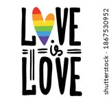 Love Is Love Lettering With...