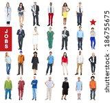 group of multiethnic diverse...   Shutterstock . vector #186755675
