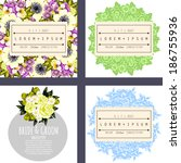 wedding invitation cards with... | Shutterstock .eps vector #186755936