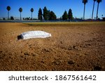 Baseball Bag On Dirt Infield...
